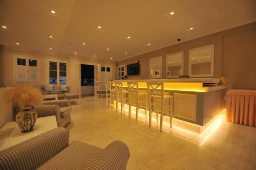 The lobby or reception area at Hotel Agios Nikitas