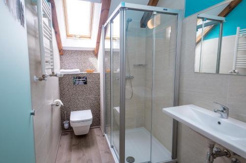 Salle de bains dans l'établissement Hotel Rural Auñamendi