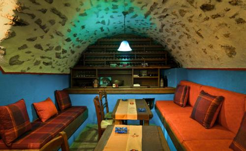 The lounge or bar area at Napoleon Zaglis Guesthouse