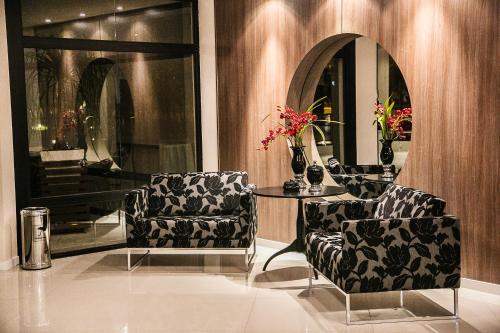 O saguão ou recepção de Gaboardi Park Hotel