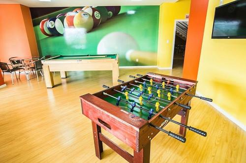 Mesa de bilhar em Gaboardi Park Hotel