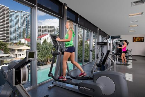 The fitness center and/or fitness facilities at Q1 Resort & Spa - Official