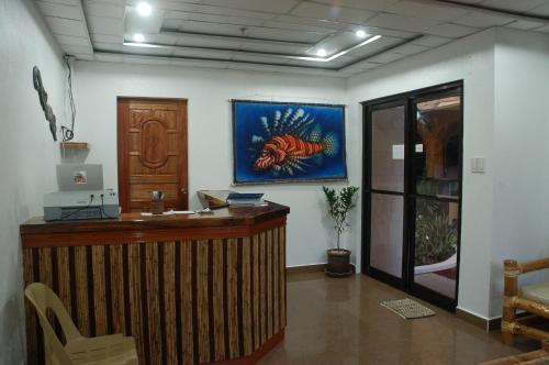 The lobby or reception area at Island Jewel Inn