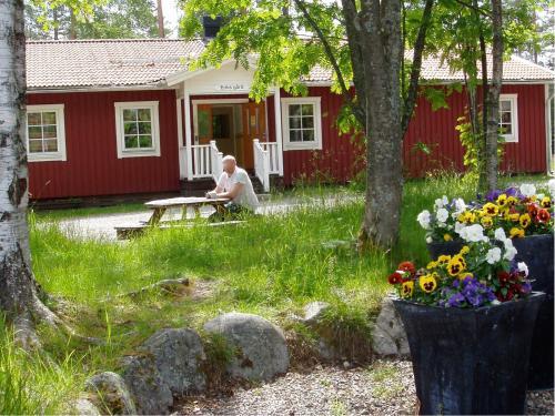 En trädgård utanför Gaffelbyn - Sundsvalls Vandrarhem