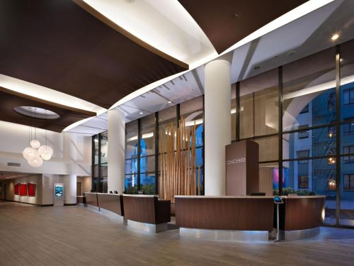 The lobby or reception area at Hilton Parc 55 San Francisco Union Square