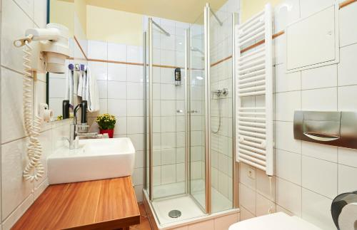 A bathroom at Hotel Elch