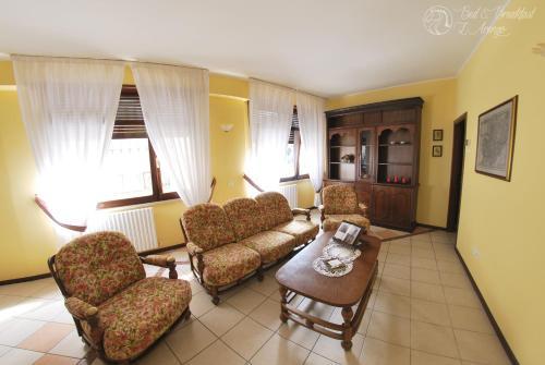 Area soggiorno di Bed & Breakfast L'Arengo