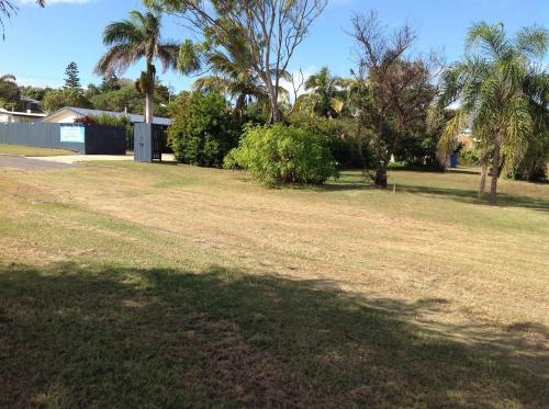 A garden outside Emu Park Motel