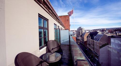 Un balcón o terraza de Clarion Collection Hotel Folketeateret