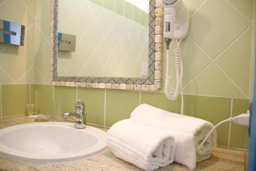 A bathroom at Hotel Gran Torre