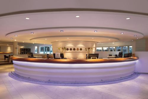The lobby or reception area at Hilton Stockholm Slussen Hotel