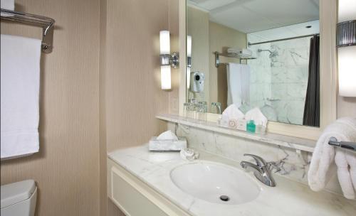 A bathroom at Warwick Seattle