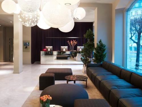 The lobby or reception area at Nobis Hotel Stockholm, a Member of Design Hotels™