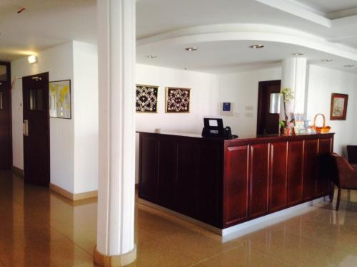 The lobby or reception area at Rebioz Hotel