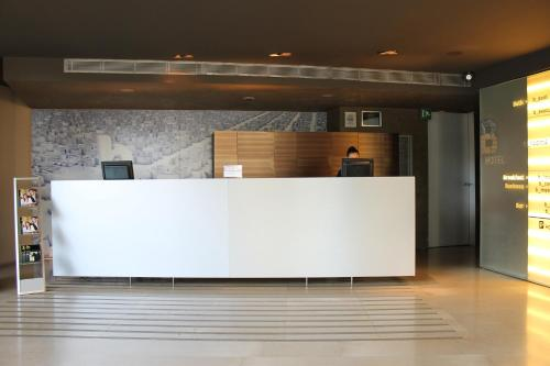 The lobby or reception area at B Hotel