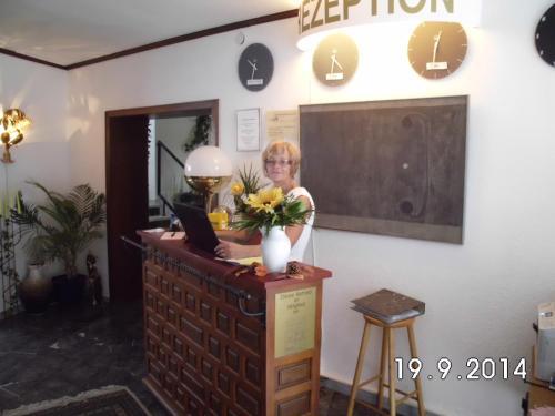 The lobby or reception area at Hotel am Neuen Markt