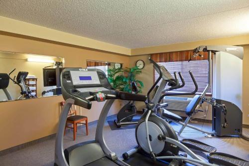 The fitness center and/or fitness facilities at AmericInn by Wyndham Valley City Conference Center
