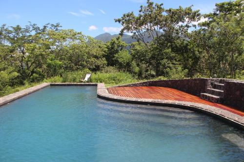 The swimming pool at or near El Respiro Ecolodge