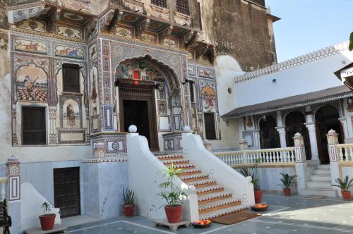 Hotel Radhika Haveli, Mandawa during the winter