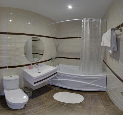Ванная комната в Гостиница Силуэт