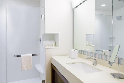 A bathroom at Courtyard by Marriott Buffalo Downtown/Canalside