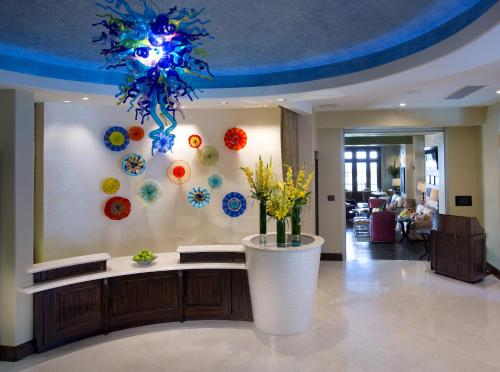 The lobby or reception area at The Pearl Hotel