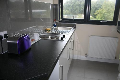A kitchen or kitchenette at Colne Valley Bed & Breakfast