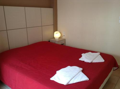 A bed or beds in a room at Antonia Apartments