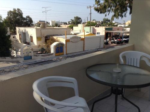 A balcony or terrace at Katerina & John's Hotel