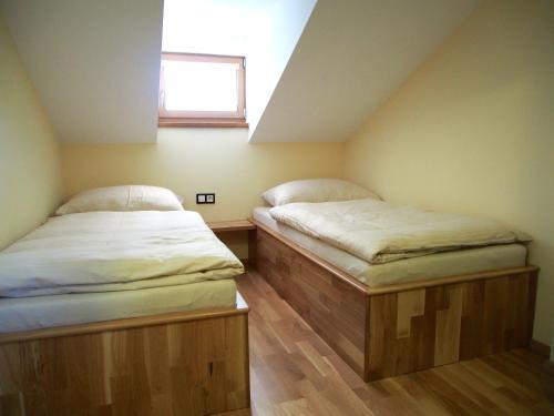 Postel nebo postele na pokoji v ubytování Pension La Campagna