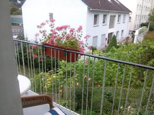 A balcony or terrace at Hotel Prinz Eitel