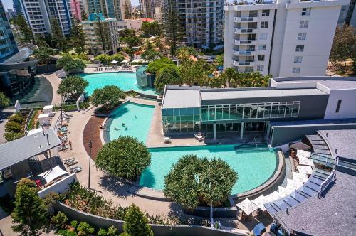 A bird's-eye view of Q1 Resort & Spa - Official
