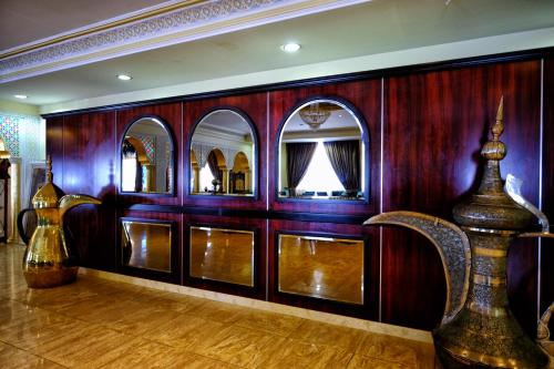 The lobby or reception area at Sharjah International Airport Hotel