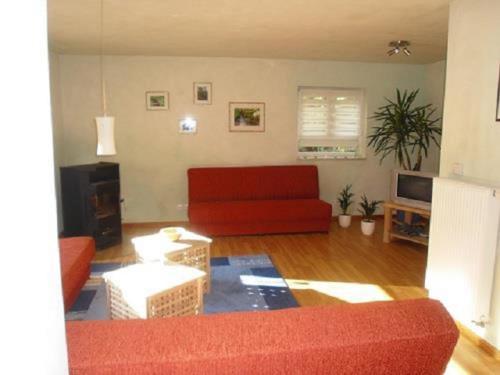 Ein Sitzbereich in der Unterkunft Ferienhaus Route 5