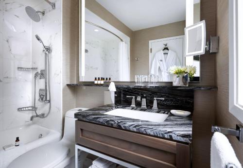 A bathroom at The Fairmont Palliser