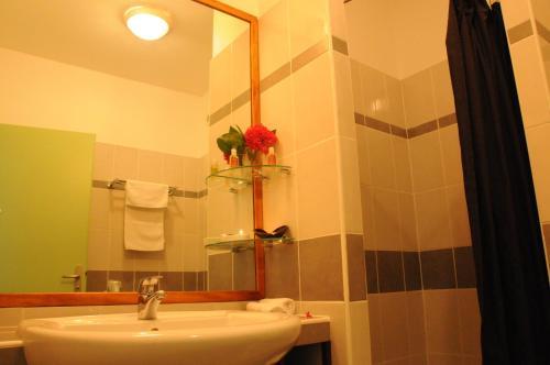 A bathroom at Hotel Maharajah