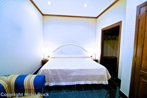 Letto o letti in una camera di Hotel Dock