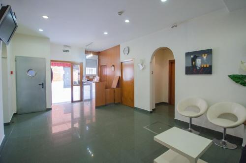 The lobby or reception area at Hotel Solymar