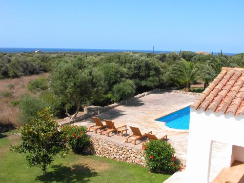 A view of the pool at Casa Sabarraca or nearby