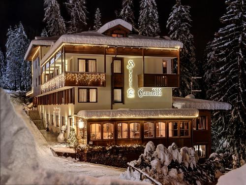 Hotel Caminetto during the winter