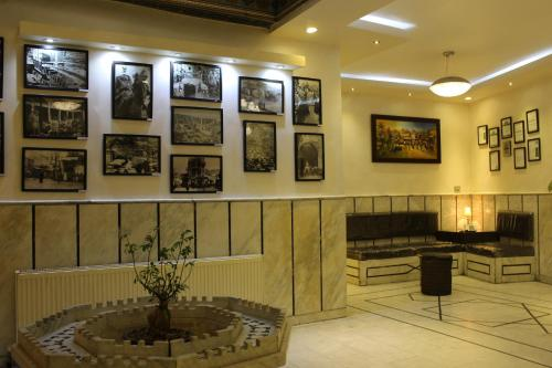 The lobby or reception area at Arab Tower Hotel