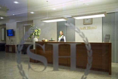 The lobby or reception area at Soft Hotel