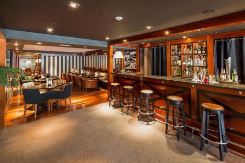 The lounge or bar area at U232 Hotel