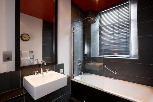 A bathroom at Malmaison Aberdeen
