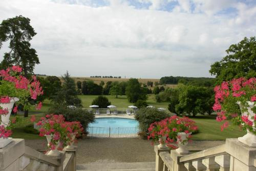 A view of the pool at Chateau De Fere or nearby