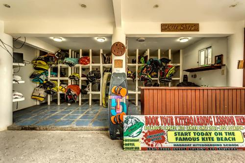 The lobby or reception area at Aissatou Beach Resort