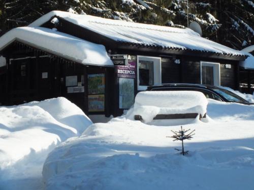 Chaty Jasná v zime