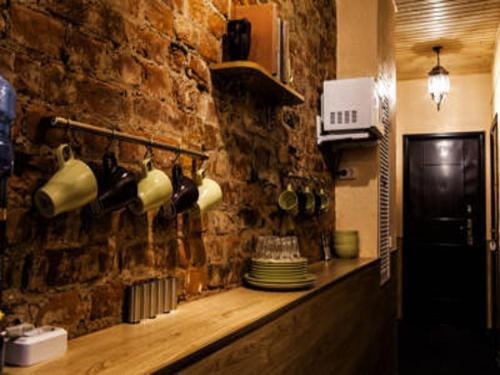 Кухня или мини-кухня в Отель «Бонжур»