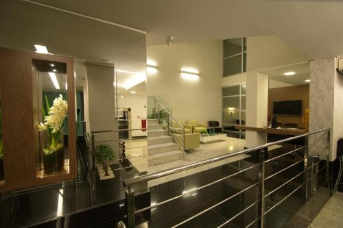 The lobby or reception area at Hotel Metropolitan