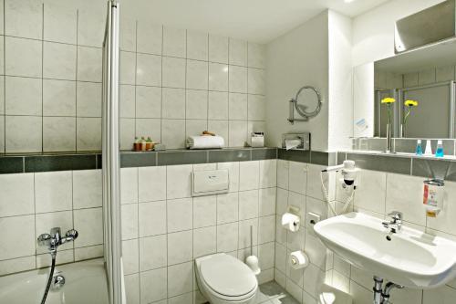 Ein Badezimmer in der Unterkunft Best Western Hotel Dortmund Airport